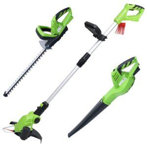 3 pcs conjunto ferramentas elétricas de jardim sem fios - PORTES GRÁTIS