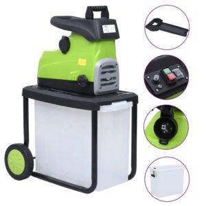 Triturador elétrico de jardim com caixa coletora 2800 W - PORTES GRÁTIS
