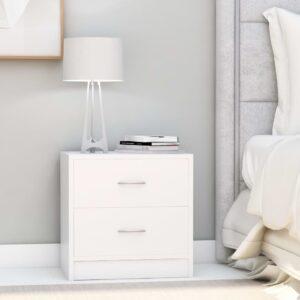 Mesa de cabeceira 40x30x40 cm contraplacado branco - PORTES GRÁTIS