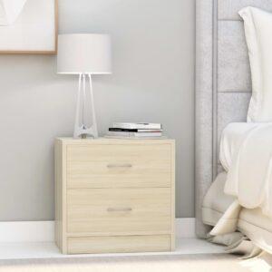 Mesa de cabeceira 40x30x40 cm contraplacado carvalho sonoma - PORTES GRÁTIS