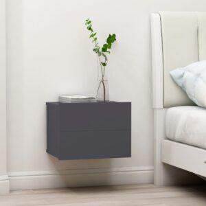 Mesa de cabeceira 40x30x30 cm contraplacado cinzento - PORTES GRÁTIS
