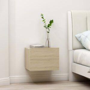 Mesa de cabeceira 40x30x30 cm contraplacado carvalho sonoma - PORTES GRÁTIS