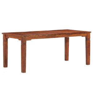 Mesa de jantar 180x90x76 cm madeira de acácia maciça  - PORTES GRÁTIS