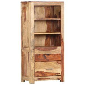 Aparador alto 50x30x108 cm madeira de sheesham maciça - PORTES GRÁTIS