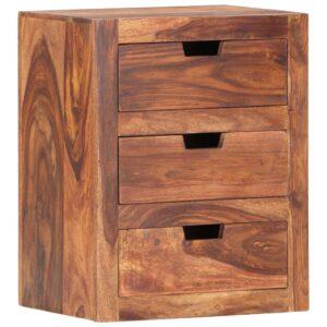 Mesa de cabeceira 40x30x50 cm madeira de sheesham maciça - PORTES GRÁTIS