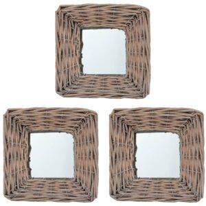 Espelhos 3 pcs 15x15 cm vime - PORTES GRÁTIS