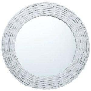 Espelho 80 cm vime branco - PORTES GRÁTIS