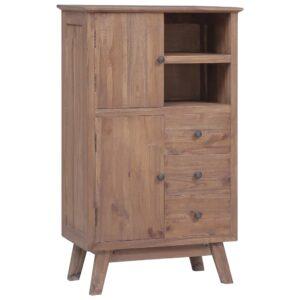 Aparador alto 60x30x100 cm madeira de teca maciça - PORTES GRÁTIS
