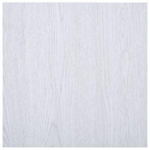 Tábuas de soalho autoadesivas 5,11 m² PVC branco - PORTES GRÁTIS