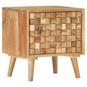 Mesa de cabeceira 42x35x45 cm madeira de acácia maciça  - PORTES GRÁTIS