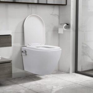Sanita de parede sem rebordo c/ função de bidé cerâmica branco - PORTES GRÁTIS