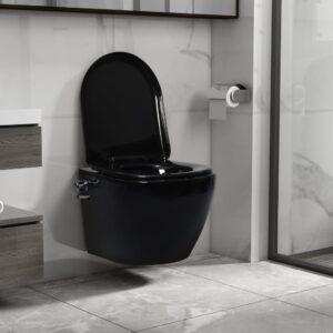 Sanita de parede sem rebordo c/ função de bidé cerâmica preto - PORTES GRÁTIS