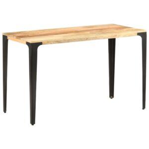 Mesa de jantar 120x60x76 cm madeira de mangueira maciça - PORTES GRÁTIS