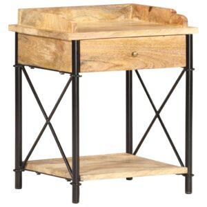 Mesa de cabeceira 40x35x50 cm madeira de mangueira maciça  - PORTES GRÁTIS