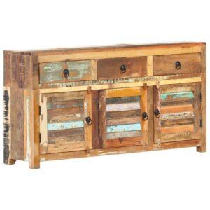 Aparador 120x30x65 cm madeira recuperada maciça - PORTES GRÁTIS