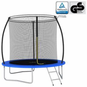Conjunto de trampolim redondo 244x55 cm 100 kg - PORTES GRÁTIS