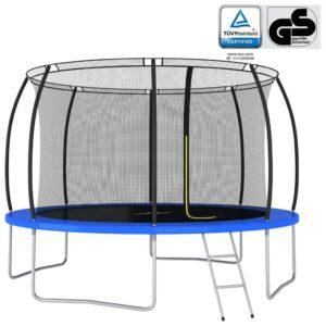 Conjunto de trampolim redondo 366x80 cm 150 kg - PORTES GRÁTIS