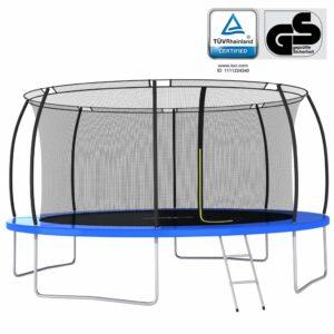 Conjunto de trampolim redondo 460x80 cm 150 kg - PORTES GRÁTIS