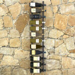 Garrafeira de parede para 24 garrafas ferro preto  - PORTES GRÁTIS