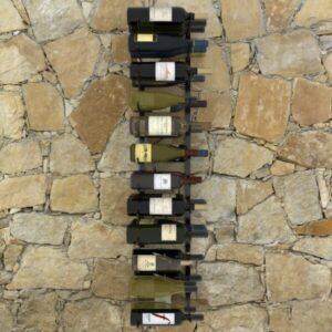 Garrafeira de parede para 36 garrafas ferro preto  - PORTES GRÁTIS