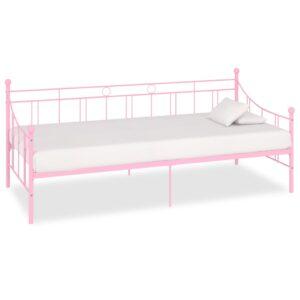 Estrutura sofá-cama 90x200 cm metal rosa - PORTES GRÁTIS