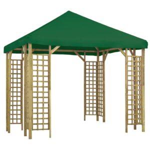 Gazebo 3x3 m verde - PORTES GRÁTIS