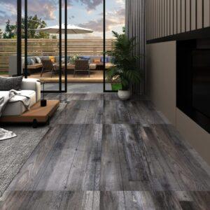 Tábuas de soalho PVC 4,46 m² 3 mm madeira industrial - PORTES GRÁTIS