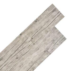 Tábuas de soalho PVC 4,46 m² 3 mm cinzento-claro - PORTES GRÁTIS