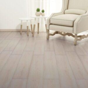 Tábuas de soalho PVC 4,46 m² 3 mm carvalho branco clássico - PORTES GRÁTIS