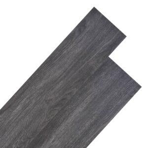 Tábuas de soalho PVC 4,46 m² 3 mm preto - PORTES GRÁTIS