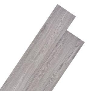 Tábuas de soalho PVC 4,46 m² 3 mm cinzento-escuro - PORTES GRÁTIS