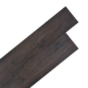 Tábuas de soalho PVC 4,46 m² 3 mm castanho-escuro - PORTES GRÁTIS