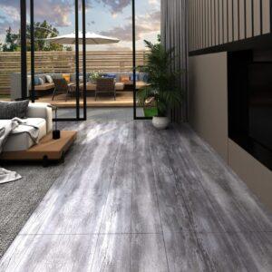 Tábuas soalho PVC autoadesivo 5,02m² 2mm madeira cinzento mate - PORTES GRÁTIS