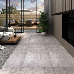 Tábuas de soalho PVC 5,26 m² 2 mm cinzento terra - PORTES GRÁTIS