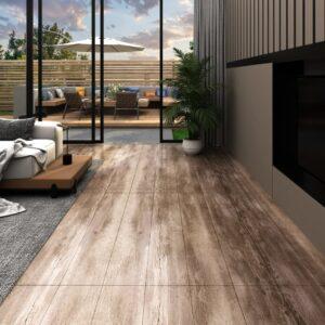 Tábuas de soalho PVC 5,26 m² 2 mm madeira lavada - PORTES GRÁTIS