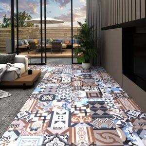 Tábua de soalho PVC 5,11 m² autoadesiva padrão mono - PORTES GRÁTIS