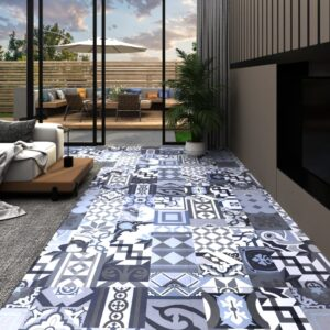 Tábua de soalho PVC 5,11 m² autoadesiva padrão colorido - PORTES GRÁTIS