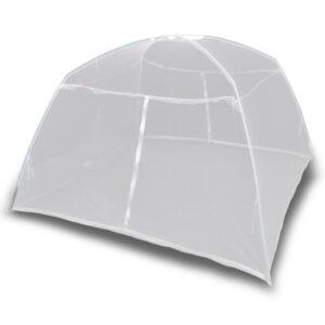 Tenda de campismo 200x120x130 cm fibra de vidro branco - PORTES GRÁTIS