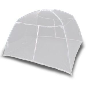 Tenda de campismo 200x150x145 cm fibra de vidro branco - PORTES GRÁTIS