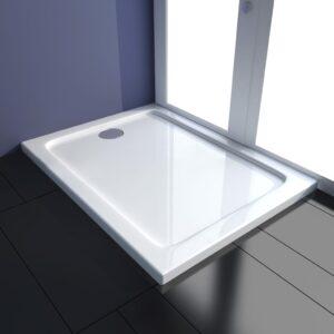 Base de chuveiro 80x100 cm ABS branco - PORTES GRÁTIS