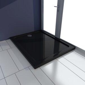 Base de chuveiro 70x100 cm ABS preto - PORTES GRÁTIS