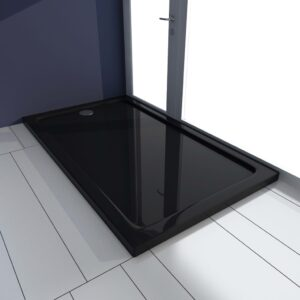 Base de chuveiro 70x120 cm ABS preto - PORTES GRÁTIS