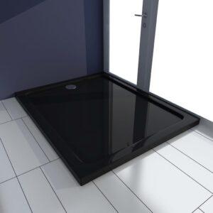 Base de chuveiro 80x100 cm ABS preto - PORTES GRÁTIS