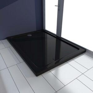 Base de chuveiro 80x110 cm ABS preto - PORTES GRÁTIS