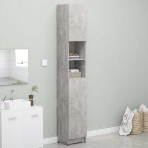 Armário casa banho 32x25,5x190 cm contraplacado cinza cimento - PORTES GRÁTIS