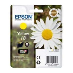 Tinteiro de Tinta Original Epson C13T18044010 Amarelo