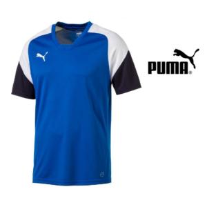 Puma® T-Shirt de Treino Junior Black Blue | Tamanho 14 Anos