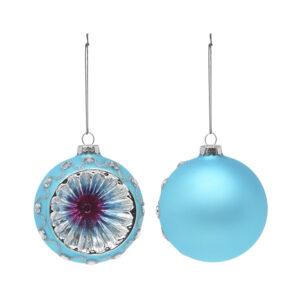 Bolas de Natal Christmas Planet 1693 8 cm (2 uds) Cristal Azul