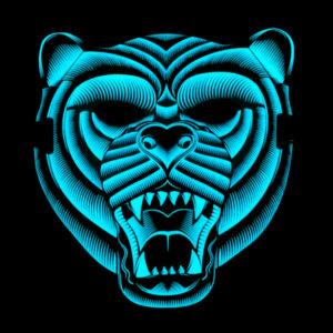As Luzes Ativam-se Com o Som - Máscara Led Tigre - VEJA O VIDEO