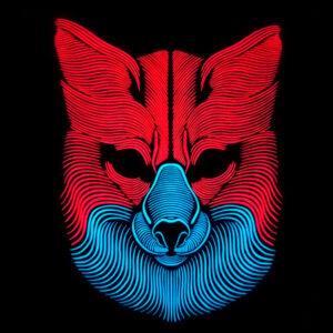 As Luzes Ativam-se Com o Som - Máscara Led Lobo - VEJA O VIDEO